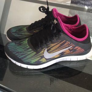 Rainbow Colored Nike Free 3.0